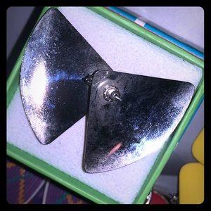 🔴2/$10 Red Enamel Triangle Earrings